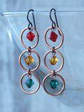 Artistic Glass Earrings