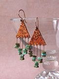 Artistic Copper Earrings